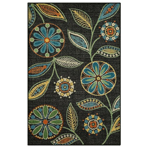 Maples Rugs Kitchen Rug - Reggie Artwork Collection 2.5 x 4 Non Skid Small Accent Throw Rugs [Made in USA] for Entryway and Bedroom, 2'6 x 3'10 (This Computer Appears To Have A Non Standard)