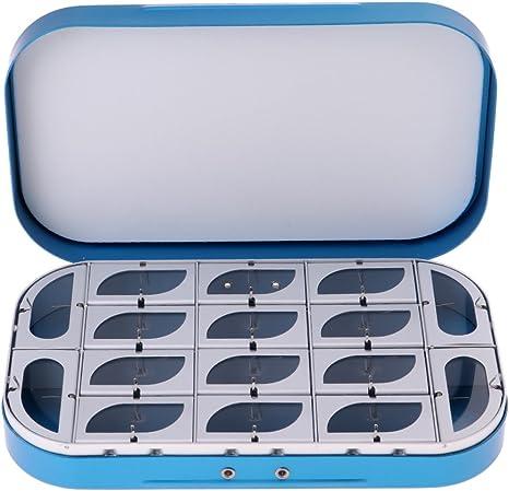 MagiDeal - Caja de Moscas de aleación de Aluminio con 16 ...