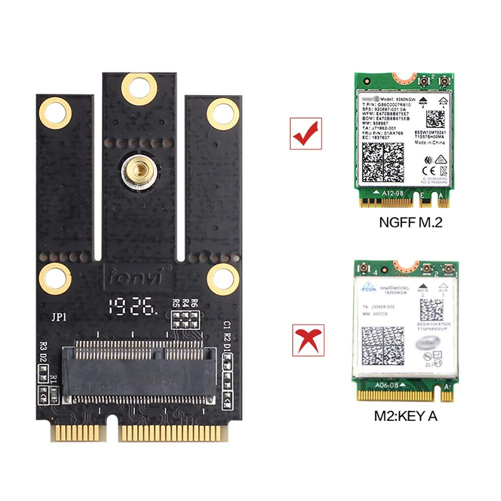 Mini Pcie Ngff M.2 Key A+e Wifi Bluetooth Card To Converter