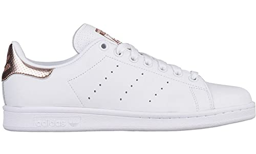 adidas Women's Stan Smith, FOOTWEAR WHITE/ROSE GOLD BB1434 (10 ...