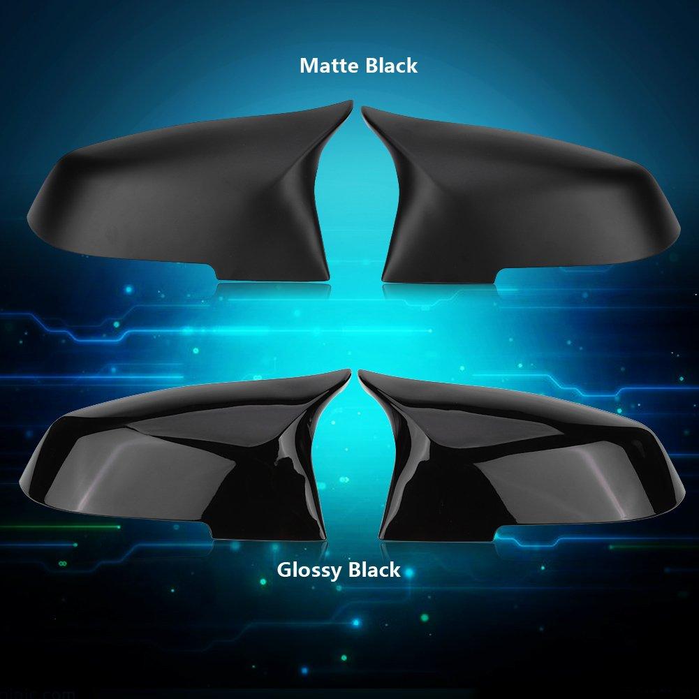negro brillante Cubierta de espejo retrovisor lateral 1 par de cubiertas de tapa de espejo retrovisor