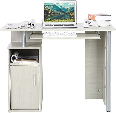 Cocoarm Scrivania Bianca scrivania da Ufficio scrivania da Studio con cassetti Scrivania in truciolare Workstation per Ufficio e Ufficio Computer Domestico