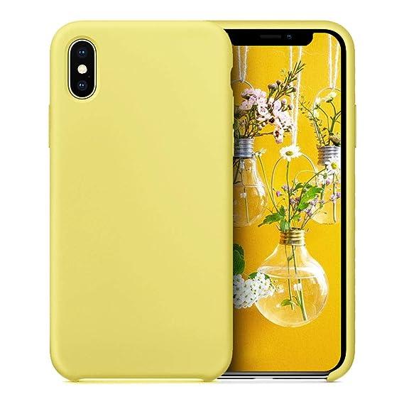 907c99a4ba8328 JAZ iPhone X Case, iPhone XS Case Ultra Slim Liquid Silicone Gel Rubber  Shockproof Case