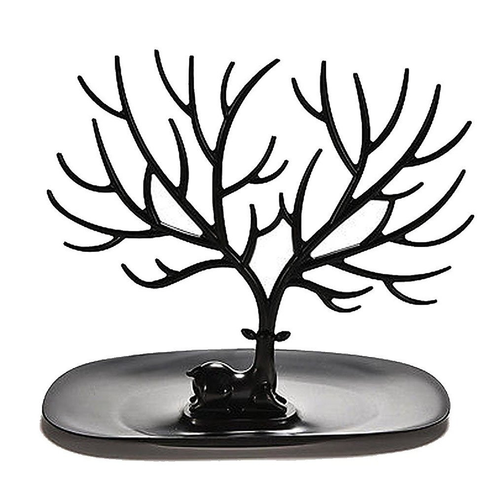 OULII Necklace Holder Bracelet Stand / Jewelry Organizer / Jewelry Tree Decorative Deer Antler Tree Design (Black)