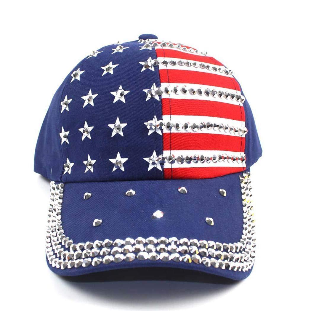 Women Fashion Sparkle Rhinestone Baseball Cap Sun Protection Hat