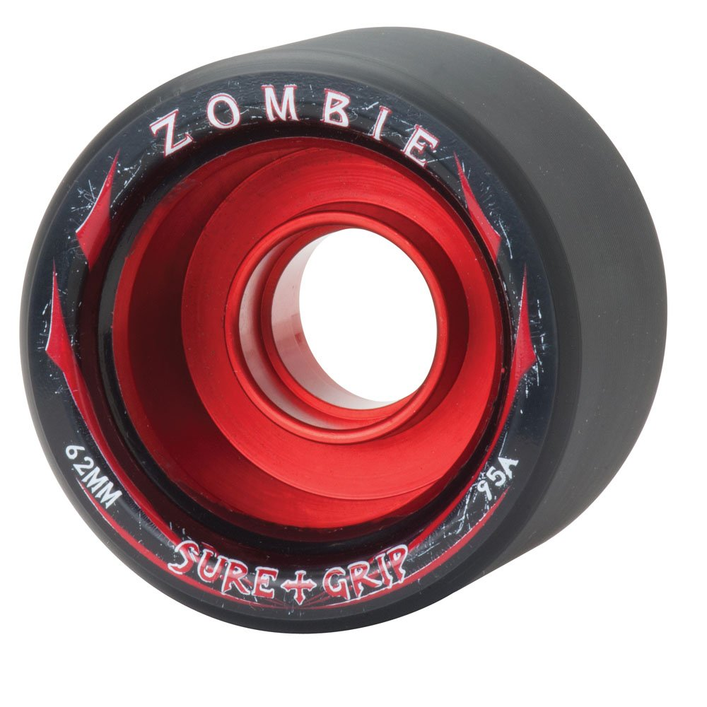 New! Sure Grip Zombie Quad Indoor Speed Skate Roller Derby Wheels - 8 Pack! (Red (95A), Low (58mm x 38mm))