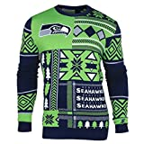 NFL SEATTLE SEAHAWKS PATCHES Ugly Sweater, X-Large