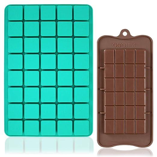 FineGood - Moldes de silicona para chocolate, 40 cavidades, con ...
