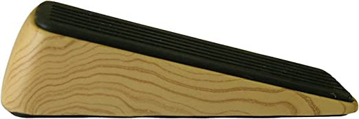 SMALL HARD WOOD Door Wedge NATURAL Solid Wooden Traditional Stop//Stopper Carpet