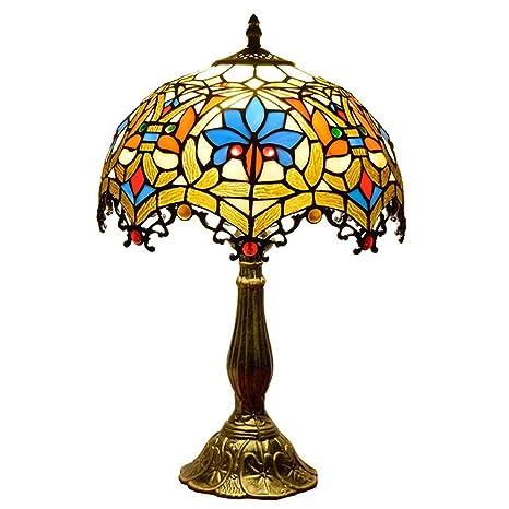 Casa Padrino - Lámpara de mesa de Tiffany de 12 pulgadas, diseño ...