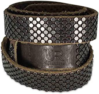 UR vintageous Black Leather Belt For Men