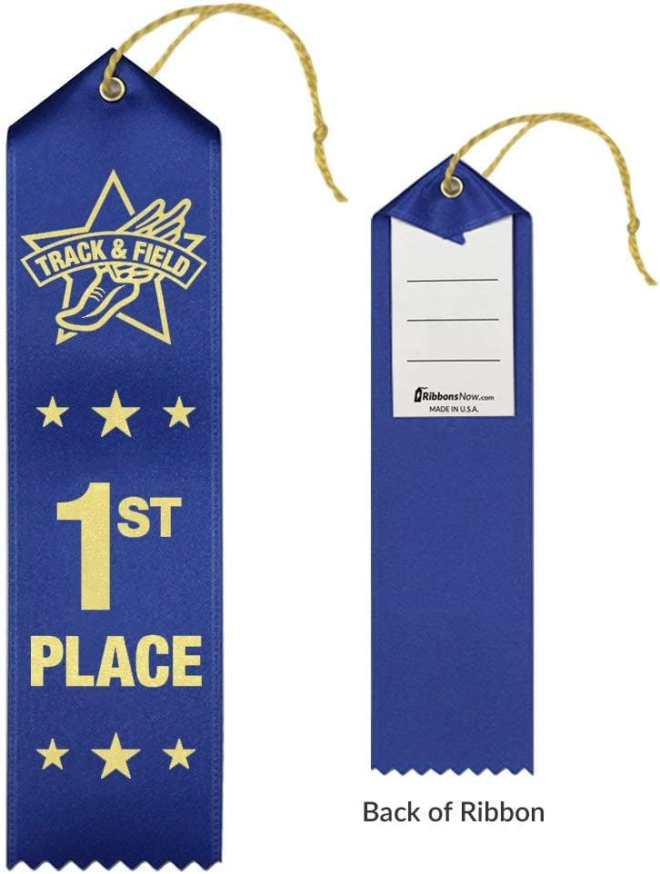 6th Place 12 Each Place 72 Count Total Track /& Field Award Ribbons 1st