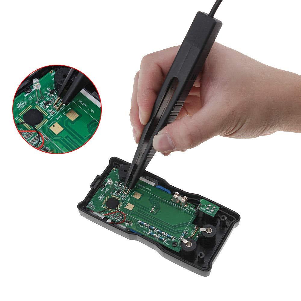 Islandse 70cm Multimeter Probe 10mm Car Digital Multimeter SMD Inductor Test Clip Meter Probe Tweezers for Resistor Multimeter Capacitor Black by Islandse_💗Cell Phone Accessories (Image #2)