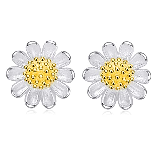 4bf03e320 Daisy Earrings for Women 925 Sterling Silver Jewelry Perfect Gift Her  Teenage Girls Post Stud Earrings