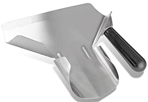 Bonsicoky Stainless Steel Popcorn Scoop, Quick Fill Tool for Food Bags & Boxes, Multipurpose Utility Scooper for French Fries, Snacks, Desserts, Ice, Dry Goods
