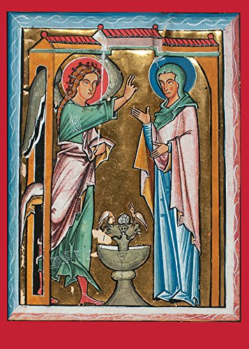 Manuscript With Annunciation - 5 x 7 Christmas Museum Card