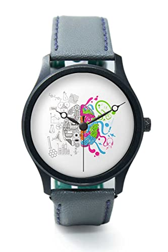 BigOwl Colorful Creative Brain Art Illustration Analog Premium Mens Wrist Watch 2002324502 RB1 B