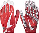 Nike Adult Vapor Knit 2 Receiver Gloves 2017, (Red/White, L)