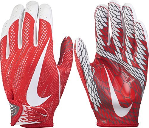 Nike Adult Vapor Knit 2 Receiver Gloves 2017, (Red/White, L) ()