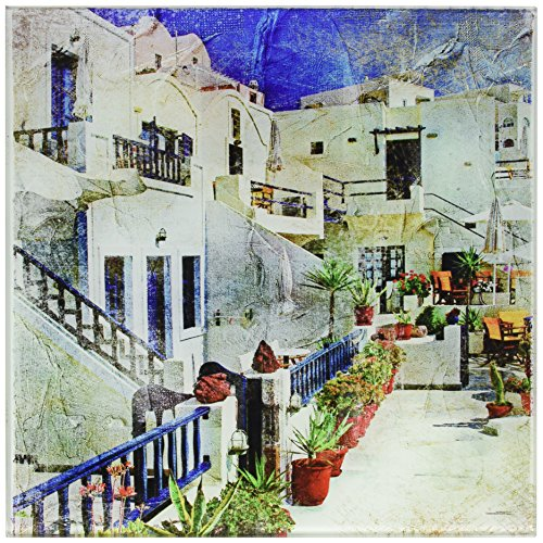 Cortesi Home Santorini I Tempered Glass Wall Art