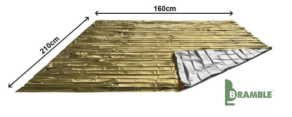 Strong /& Waterproof to Endure all Weather Conditions 10 Pack Emergency Blankets Bramble Durable Large 210x160cm| Multi-Purpose Survival Heat Thermal Insulation Protection Foil Rescue Blankets.