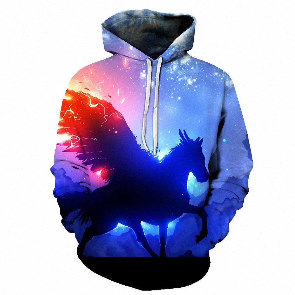 Amazon.com: NEW Fashion Hoodies Men Sudaderas Hombre Hip Hop Mens HoodyTops 3D Print Unicorn Space Galaxy Hooded Sweatshirt Dropship hoodies men XXXL: ...