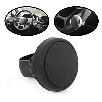 lebogner Silicone Steering Wheel Spinner, Steering Wheel Knob with Power Handle, Universal Fit Suicide Spinner with A Comfortable Grip for Car, Truck, SUVs and Boat, Mounting Accessoires Included: Automotive