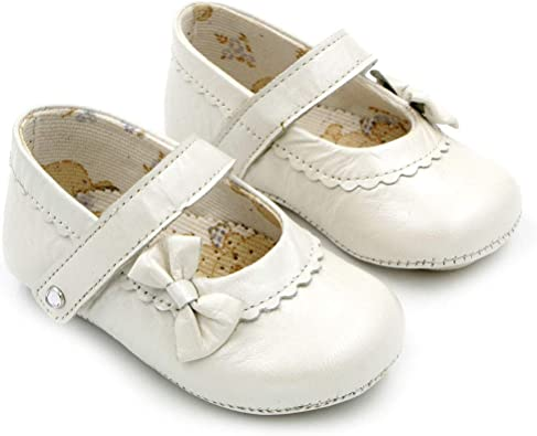 Baby Girl Shoes Pearl Leather Moccasins