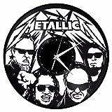 VinylShopUS – Metallica Vinyl Wall Clock Music Bands and Musicians Themed Retro Decor For Sale