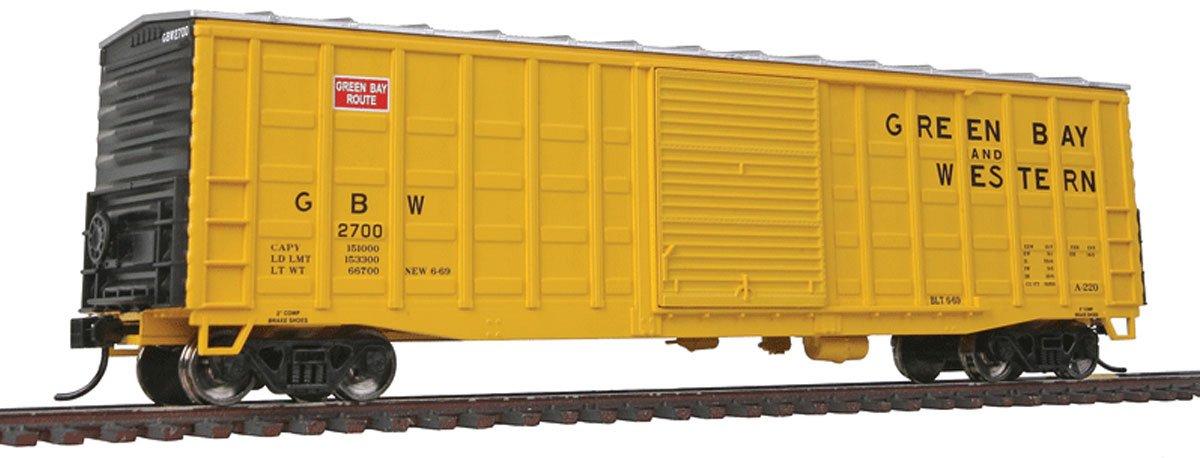 【テレビで話題】 HO Scale B00G4FB482 15m black) (yellow, Waffle-Side Boxcar - Ready To Run -- Green Bay & Western 2700 (yellow, black) B00G4FB482, タヌシマルマチ:4ea0088b --- a0267596.xsph.ru