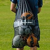 Sports Vest & Ball Carry Bag - Drawstring Bag For Storing Team Vests, Balls, & Training Gear [Net World Sports]