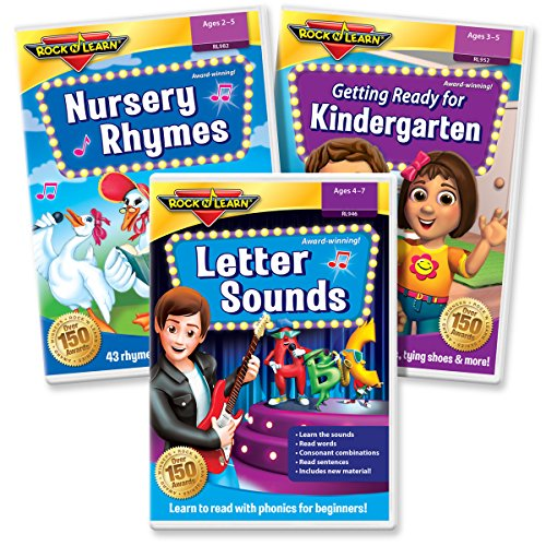 Early Literacy DVD Collection - Letter Sounds Phonics for Beginners, Getting Ready for Kindergarten, Nursery Rhymes - Learn Nursery