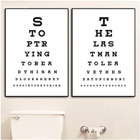 Famoso zhaoyangeng Cartelli da Bagno Divertenti Poster E Stampe Toilette XB83