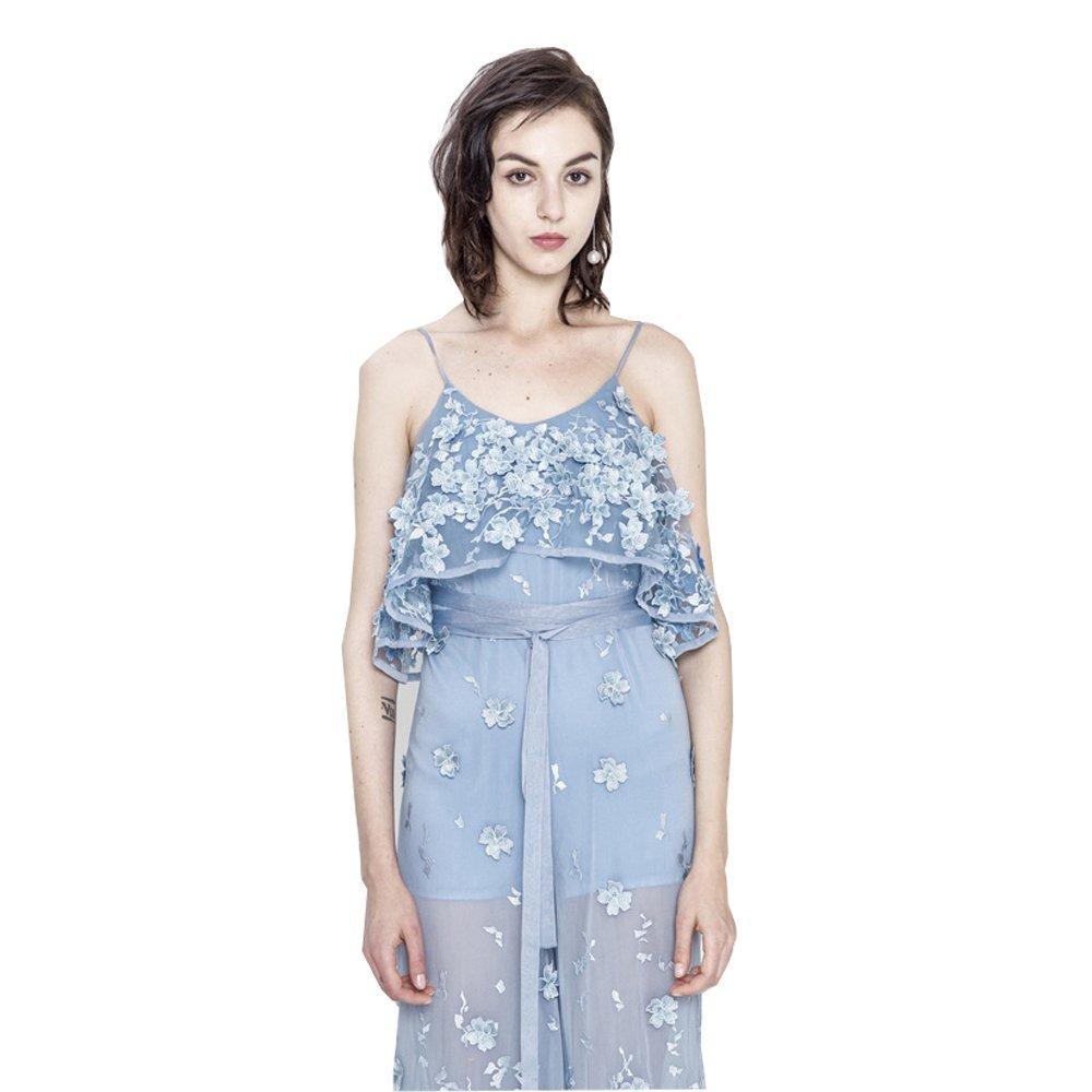 a937359c7fa Amazon.com  Fenghuavip Summer Sling Empire Sky Blue Jumpsuits Suspender  Pants  Clothing