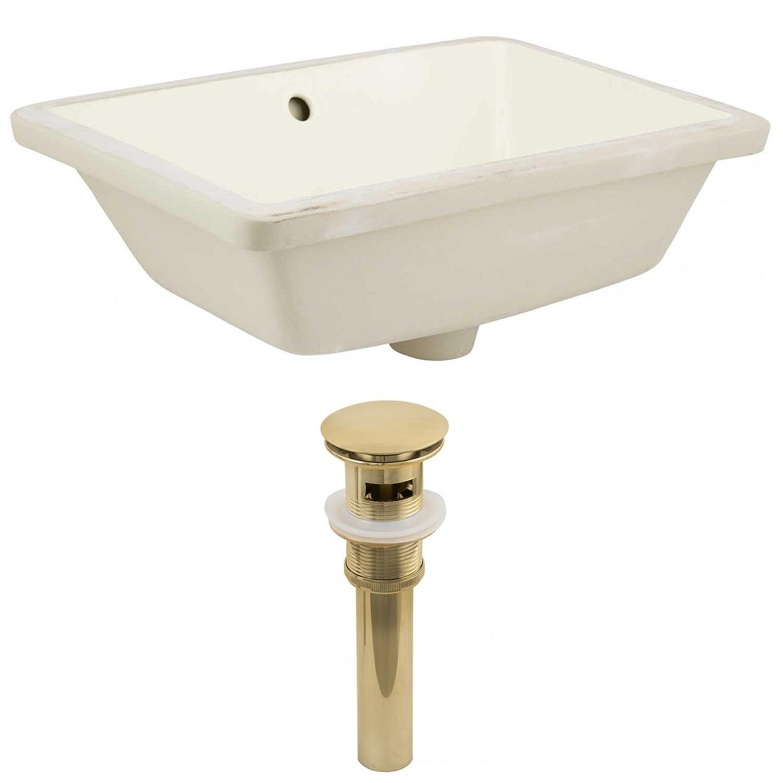 American Imaginations AI-888-24809 Undermount Sink Set Biscuit