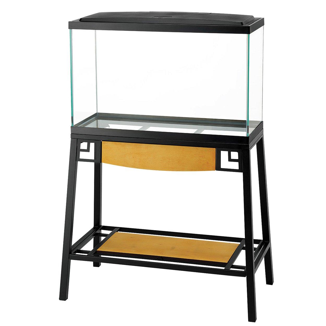 Amazon Com Aqueon Forge Metal Aquarium Stand 30 By 12 Inch Black