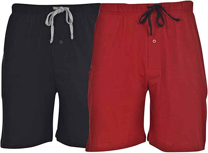 4XL COLOR CHOICES 2-Hanes Mens Jersey Cotton Shorts w//Elastic Waist /& Pockets S