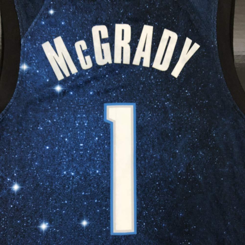 Ati NICE Camisetas De Hombre Orlando Magic # 1 Tracy McGrady Retro Chaleco Sin Mangas De Baloncesto Ventilador Uniforme De Baloncesto Swingman De Malla,XS:170cm