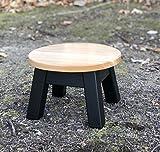 Round top, wood step stool, riser, modern, 8' - 10-12 hIgh