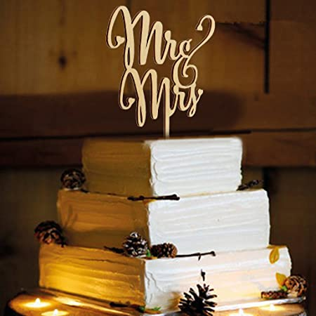 Amazon Com Magideal Mr Mrs Wooden Cake Toppers Wedding Party Cake