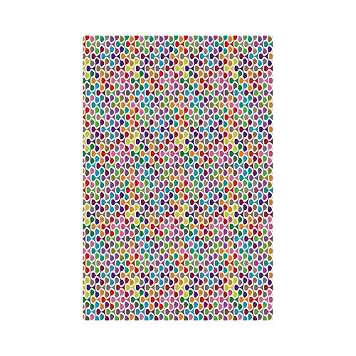 Polyester Garden Flag Outdoor Flag House Flag Banner,Geometric,Fidget Spinner Shaped Abstract Rainbow Colored Image Geometric Ornamental Pattern Decorative,Multicolor,for Wedding Anniversary Home Outd ()