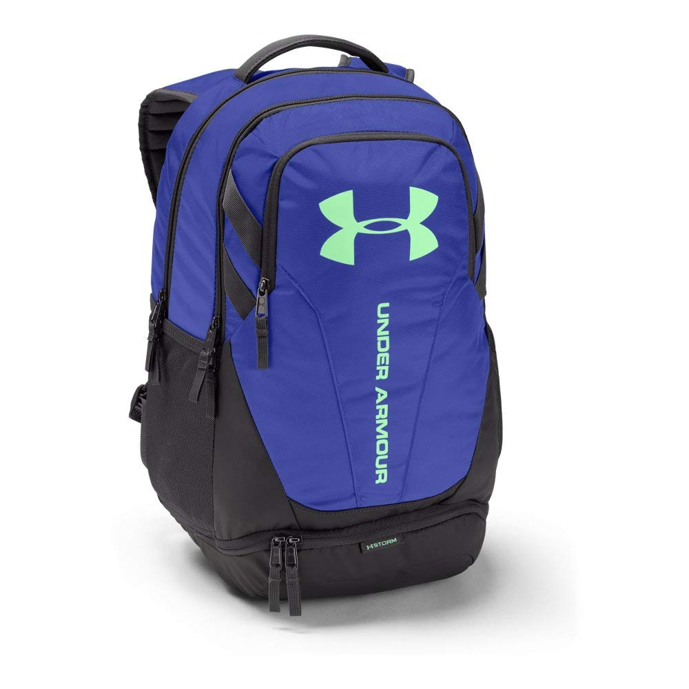 Under Armour Hustle 3.0 Backpack, Constellation Purple (531)/Green Typhoon, One Size Fits All by Under Armour