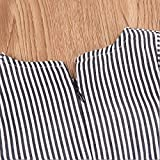 Newborn Infant Baby Girl Top Stripe Blouse Ruffle