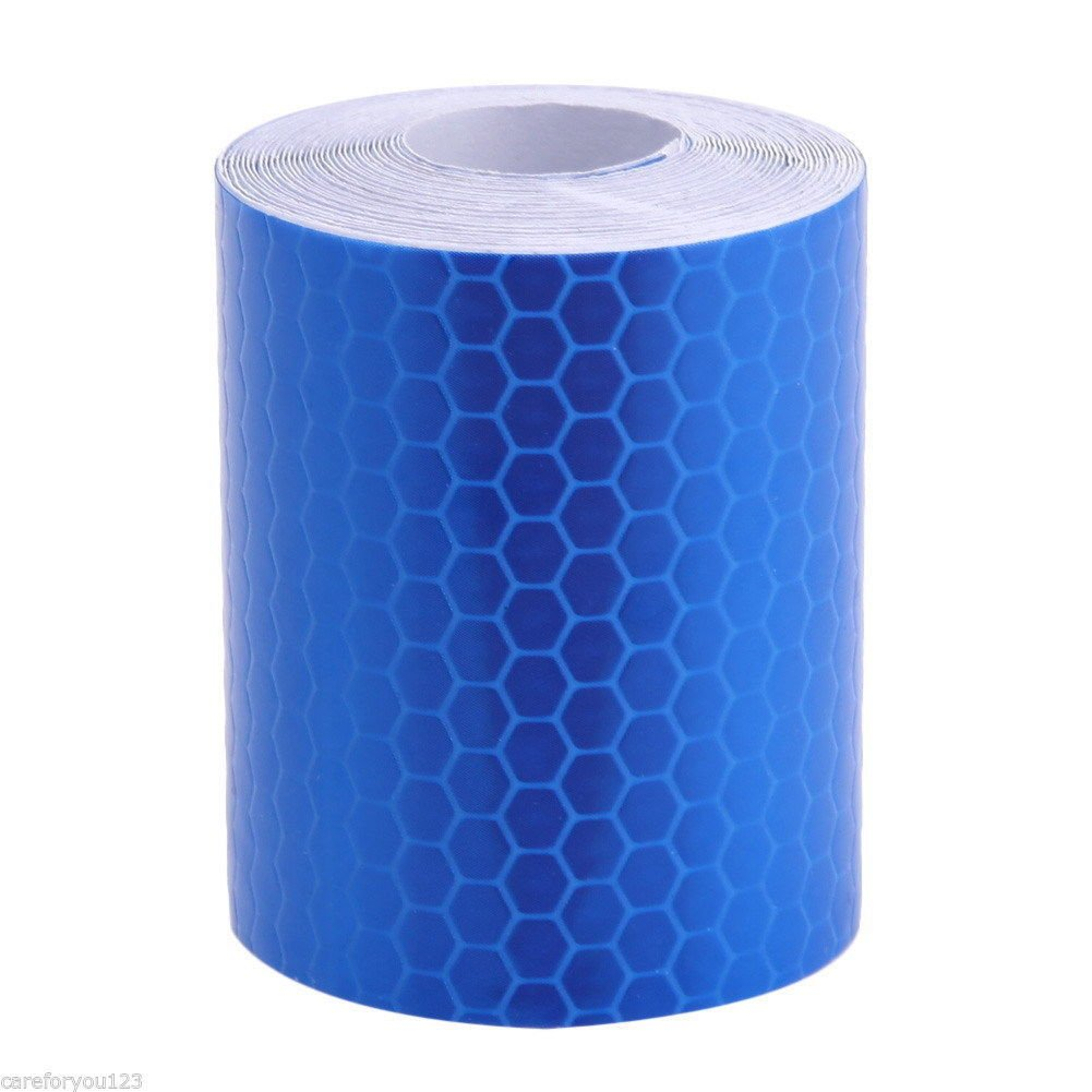 Buildent (TM) New 3M Fluorescence Pure Yellow Reflective Car Truck Motorcycle Sticker Safety Warning Signs Conspicuity Tape Roll (blue)