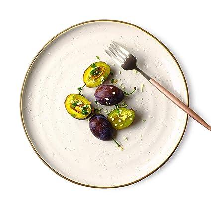 FGSLW Plato de Fruta, cubertería Japonesa de Sushi Retro, Bandeja de cerámica, Plato