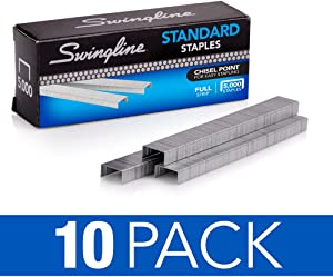 Swingline Staples, Standard, 1/4 in Length, 210/Strip, 5000/Box, (35111)