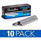 "Swingline Staples, Standard, 1/4"" Length, 210/Strip, 5000/Box, 10 Pack (35111)"