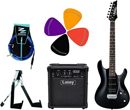 Ibanez Student Pack guitarra eléctrica/Combo Laney 10 W/accesorios: Amazon.es: Instrumentos musicales