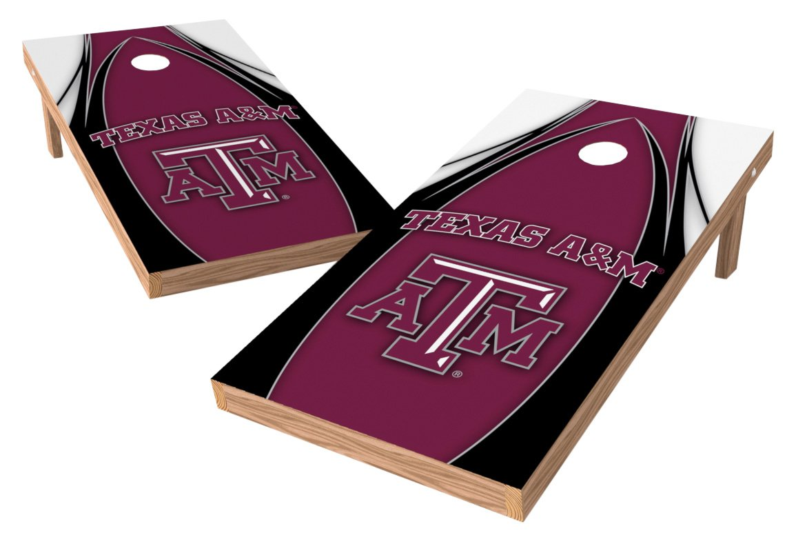 Wild Sports NCAA College Texas A&M Aggies 2' x 4' V Logo Authentic Cornhole Game Set