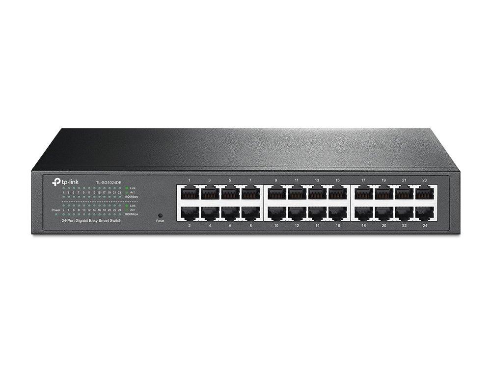 TP-Link 24-Port Gigabit Ethernet Easy Smart Managed Switch | Unmanaged Plus | Plug and Play | Desktop/Rackmount | Metal | Fanless | Limited Lifetime (TL-SG1024DE) by TP-Link